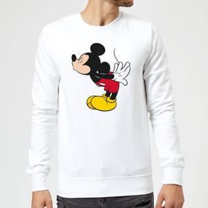 Felpa Disney Topolino Topolino Split Kiss - Bianco