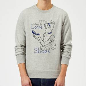 Sudadera Disney Cenicienta All You Need Is Love And... - Hombre - Gris