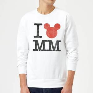 Sudadera Disney Mickey Mouse I Love MM - Hombre - Blanco