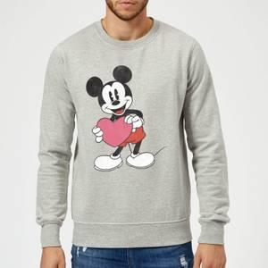 Disney Mickey Mouse Heart Gift Sweatshirt - Grey