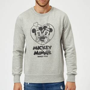 Disney Minnie Mickey Since 1928 Sweatshirt - Grey
