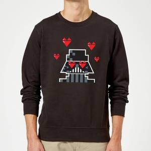 Star Wars Valentine's Vader In Love Sweatshirt - Black