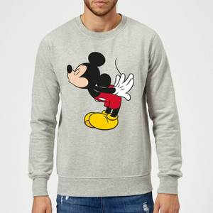 Disney Mickey Mouse Mickey Split Kiss Sweatshirt - Grey