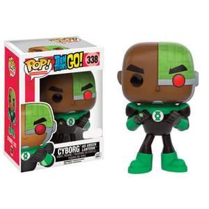 Figurine Pop! Cyborg en Green Lantern - Teen Titans Go!