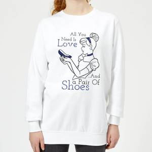 Disney Princess Cinderella All You Need Is Love Women's Sweatshirt - White