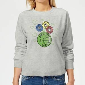 Marvel Avengers Hulk Flower Women's Sweatshirt - Grey