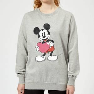 Disney Mickey Mouse Heart Gift Women's Sweatshirt - Grey