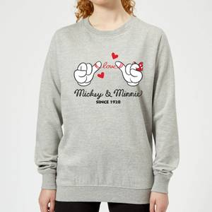 Disney Mickey Mouse Love Hands Women's Sweatshirt - Grey
