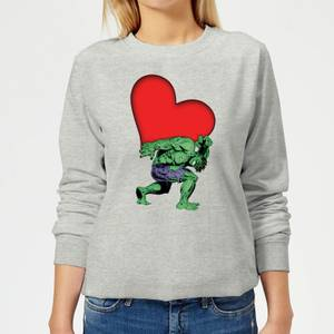 Marvel Comics Hulk Heart Women's Sweatshirt - Grey