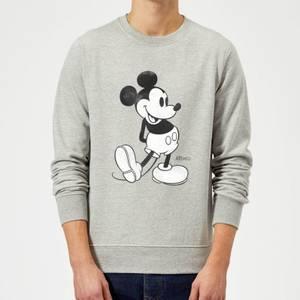 Disney Mickey Mouse Classic Kick Black And White Sweatshirt - Grey
