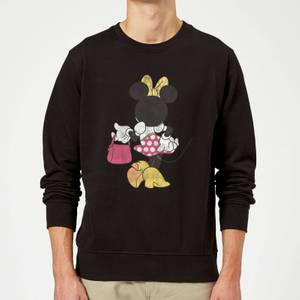 Disney Mickey Mouse Minnie Mouse Back Pose Sweatshirt - Grey