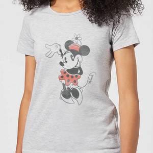 T-Shirt Femme Minnie Mouse fait Coucou (Disney) - Gris