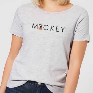 Disney Mickey Mouse Kick Letter Women's T-Shirt - Grey
