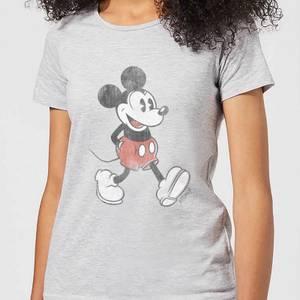 T-Shirt Femme Mickey Mouse qui Marche (Disney) - Gris