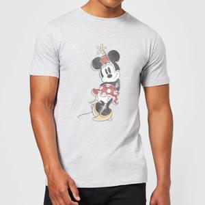 Disney Mickey Mouse Minnie Offset T-Shirt - Grey