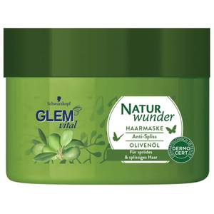 Schwarzkopf GLEM Vital Naturwunder Haarmaske Anti-Spliss Olivenöl
