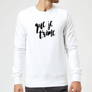 Que Je T'aime Sweatshirt - White
