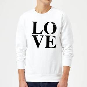 Love TextuRot Pullover - Weiß