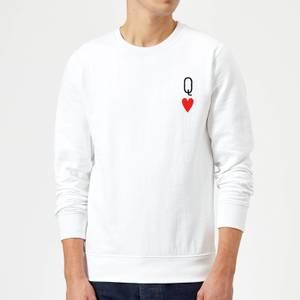 Queen Of Hearts Sweatshirt - White