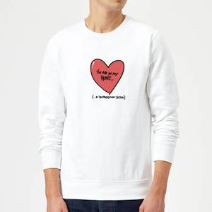 You Are In My Heart...In The Friendzone Sweatshirt - White