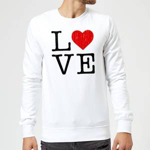 Love Heart Textured Sweatshirt - White
