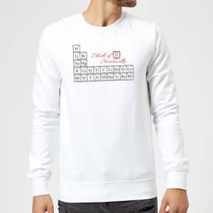 I Think Of You Periodically Sweatshirt - White