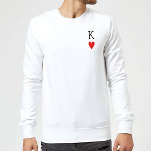 King Of Hearts Sweatshirt - White