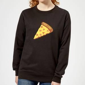 True Love Pizza Women's Sweatshirt - Black