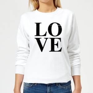 Love TextuRot Frauen Pullover - Weiß