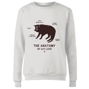 The Anatomy Of Cat Love Frauen Pullover - Weiß