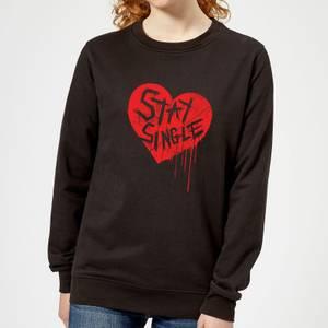 Stay Single Women's Sweatshirt - Black