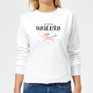 You Are My Unicorn Women's Sweatshirt - White