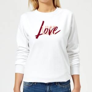 Love & Lust Frauen Pullover - Weiß