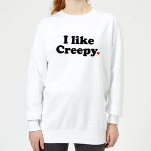 I Like Creepy Frauen Pullover - Weiß