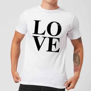 Love Textured T-Shirt - White