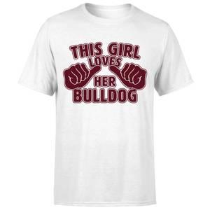 This Girl Loves Her Bulldog T-Shirt - White