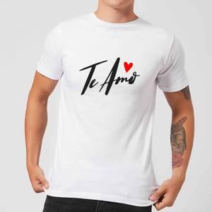 Te Amo Script T-Shirt - White