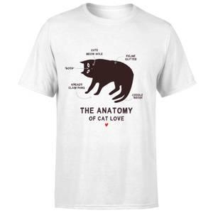 The Anatomy Of Cat Love T-Shirt - White