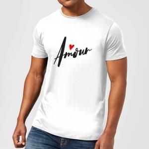 Amour Script T-Shirt - White