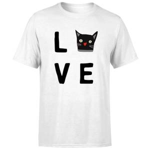 Cat Love T-Shirt - White