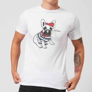 Je T'aime Frenchie T-Shirt - White