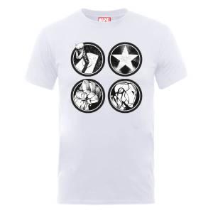 Marvel Avengers Assemble Main Logos T-Shirt - White
