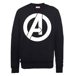 Marvel Avengers Assemble Wit Logo Trui - Zwart