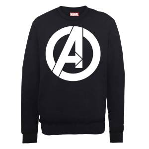 Marvel Avengers Assemble Simple Logo Sweatshirt - Black