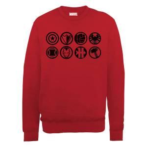 Marvel Avengers Assemble Team Icons Sweatshirt - Red