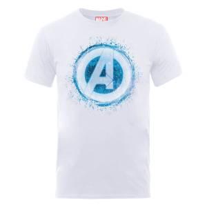 Marvel Avengers Assemble Glowing Logo T-Shirt - White