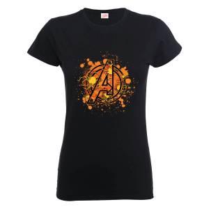 T-Shirt Marvel Avengers Assemble Halloween Spider Logo - Nero - Donna