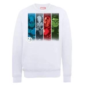 Marvel Avengers Assemble Team Poses Sweatshirt - White