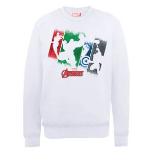 Sweat Homme Marvel Avengers Assemble - Team Punch Out - Blanc