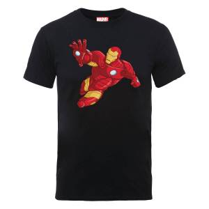 Marvel Avengers Assemble Armoured Iron Man T-Shirt - Black